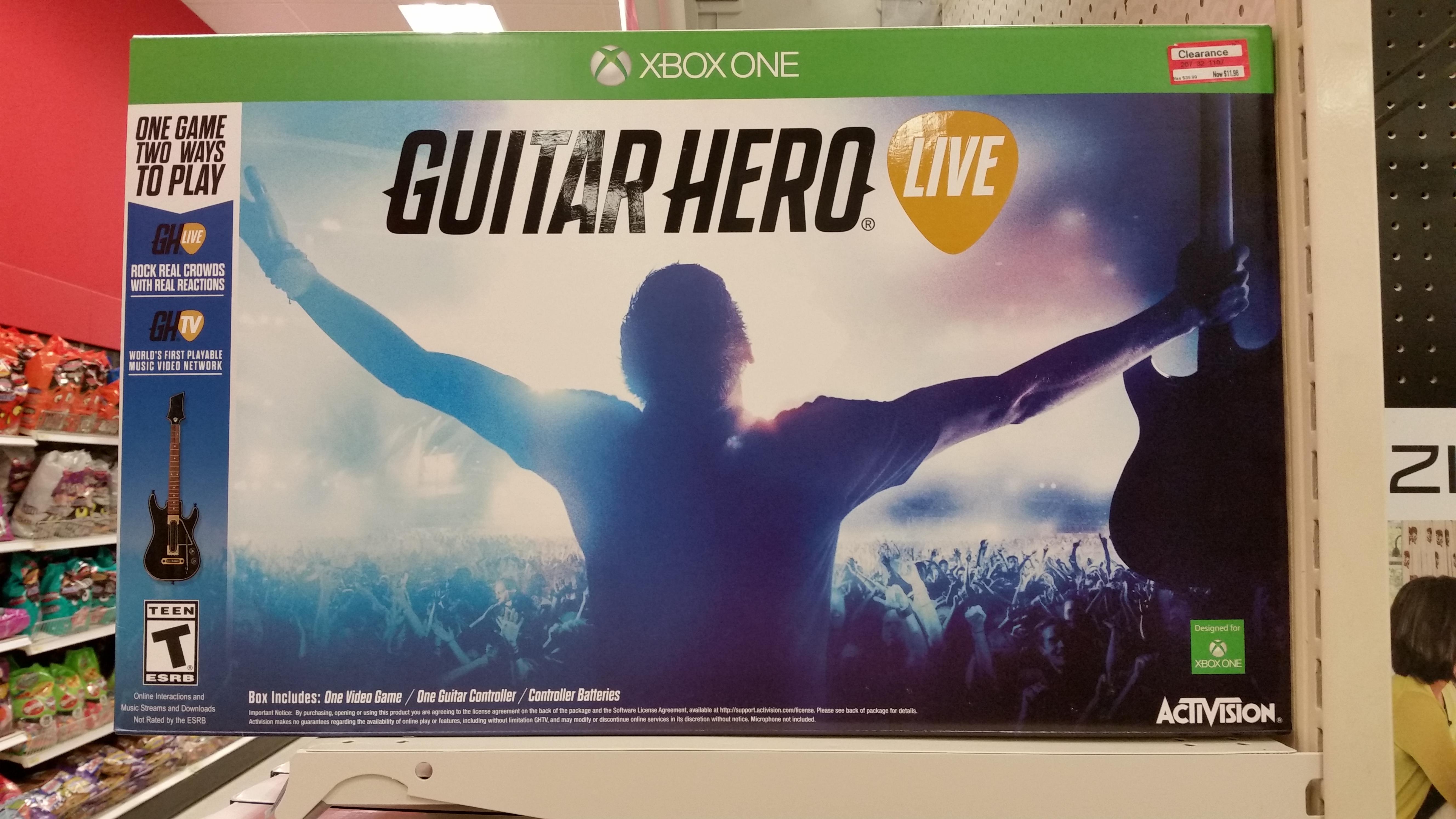 YMMV B&M Target: Guitar Hero Live (Xbox One, Xbox 360, PS4, Wii U) $11.98