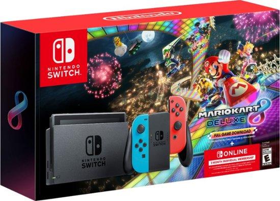299 99 Nintendo Switch Neon Mario Kart 8 Deluxe 3 Months Online Best Buy Nov 22