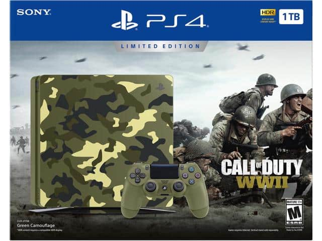 PlayStation 4 Slim 1TB Console - Call of Duty WWII Limited Edition - $199.99 FS @ NewEgg