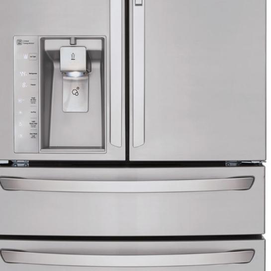 LG ENERGY STAR® 29.7 cu. ft. Super Capacity 4-Door French Door Refrigerator with Door-in-Door Design and CustomChill™ Drawer LMXS30776S $1888.88