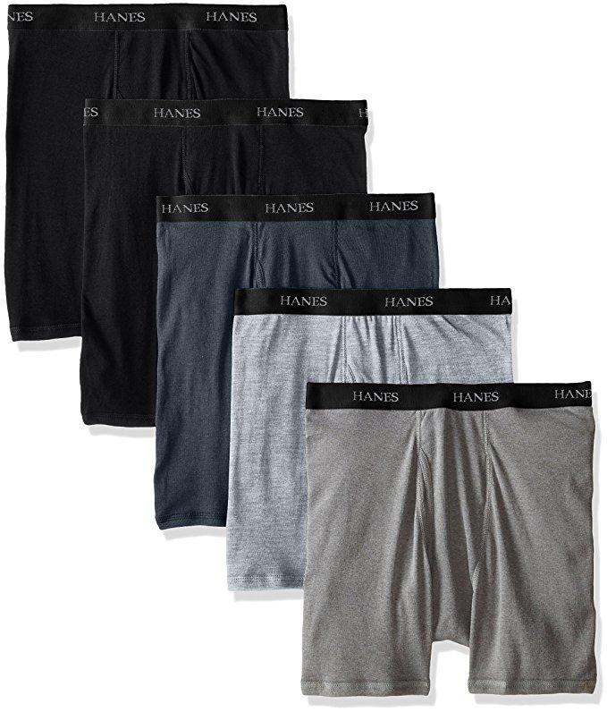 Hanes Men's 5-Pack Ultimate FreshIQ Boxer Brief with ComfortFlex Waistband - Black - $14.38 + FS w/ Prime