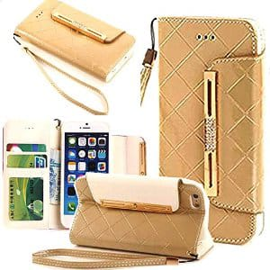 Leather wallet case for iPhone 6 $4.99 @ Amazon