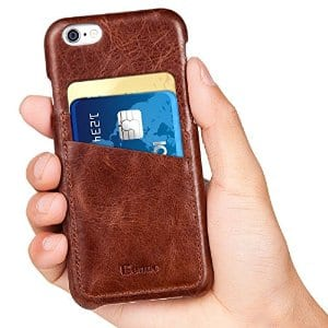 Genuine Leather case(Brown) for iPhone 6 / 6  $5.99 Amazon