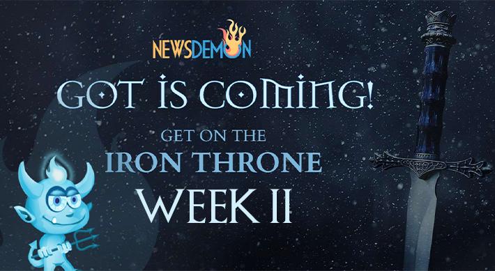 NewsDemon Usenet Get On The Iron Throne Special - 1TB block $8, 2TB block $15, Unlimited $35/yr