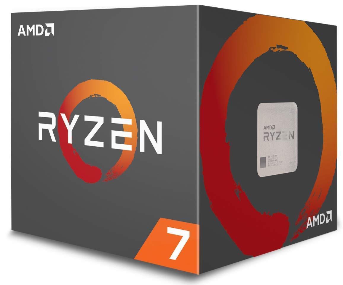 AMD Ryzen 7 1700 8-Core Desktop Processor Socket AM4 w/ Wraith Spire LED Cooler $154.99