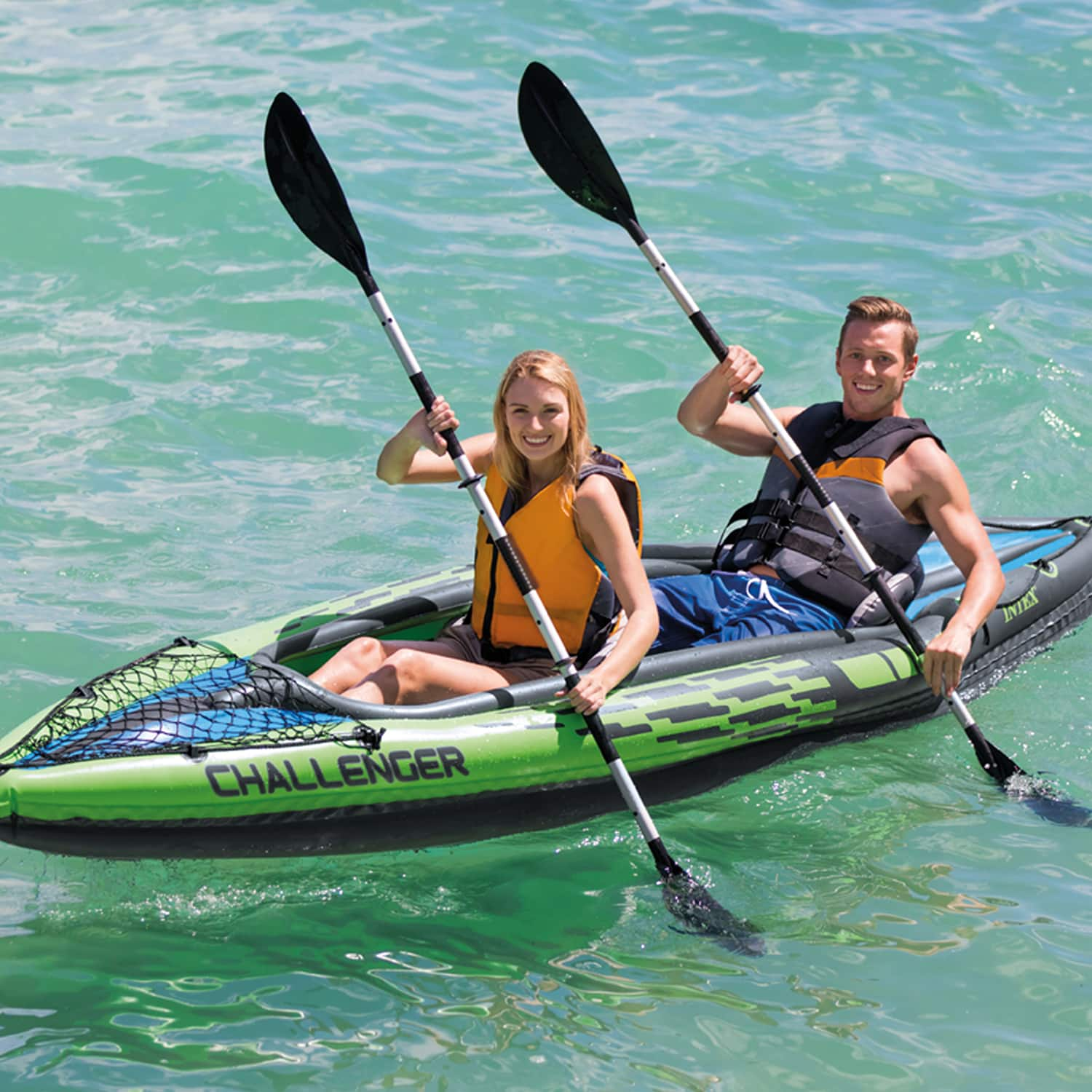 Intex Challenger K2 Inflatable Kayak with Oars and Hand Pump $59.99 FS