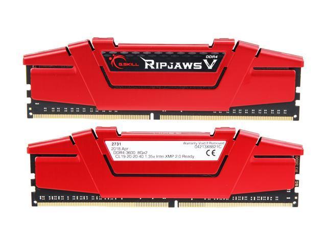 G.SKILL Ripjaws V Series 16GB (2 x 8GB) DDR4 3600 $60.99
