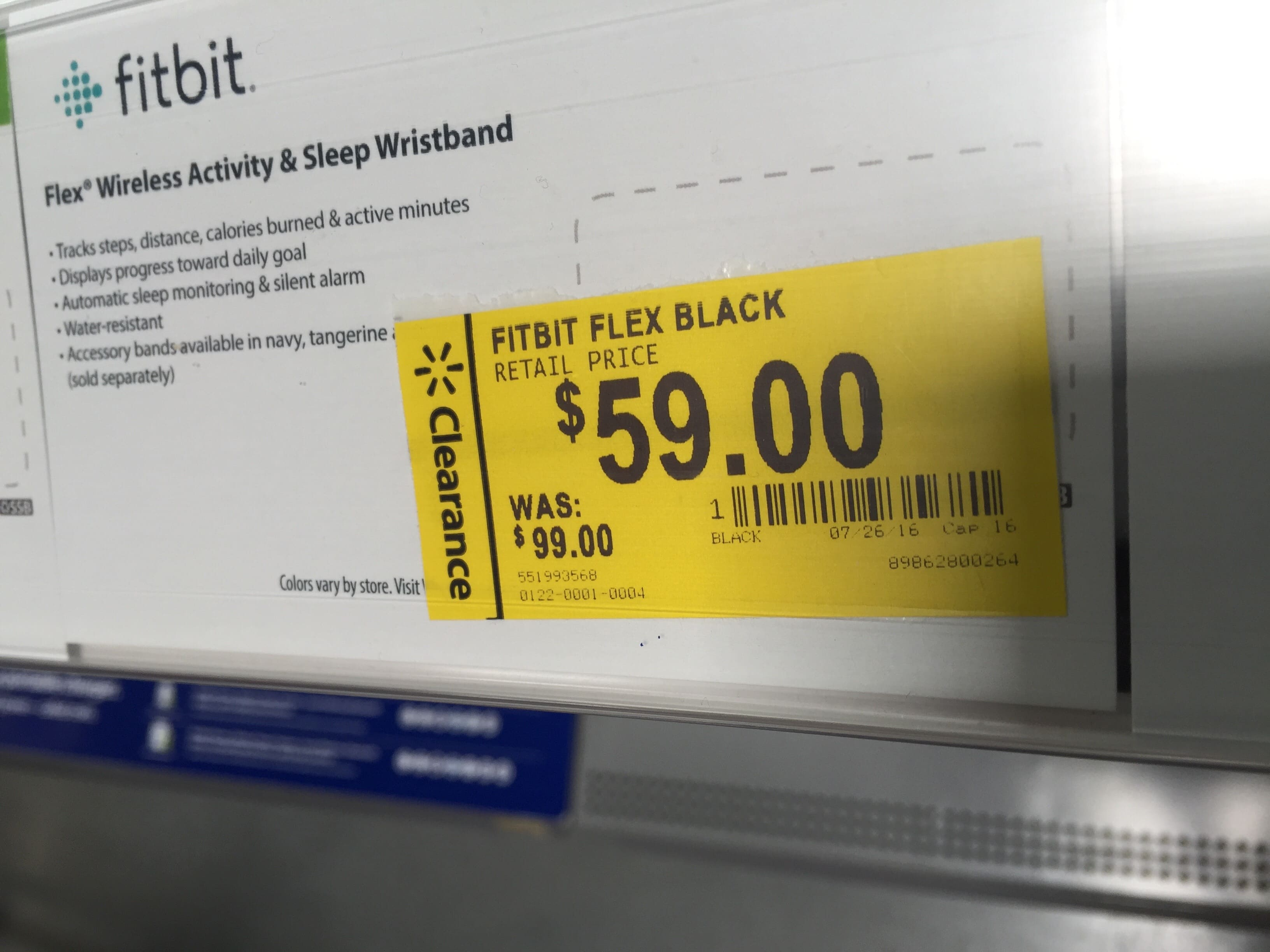 Walmart has new Fitbit flex on clearance for $59 in store.