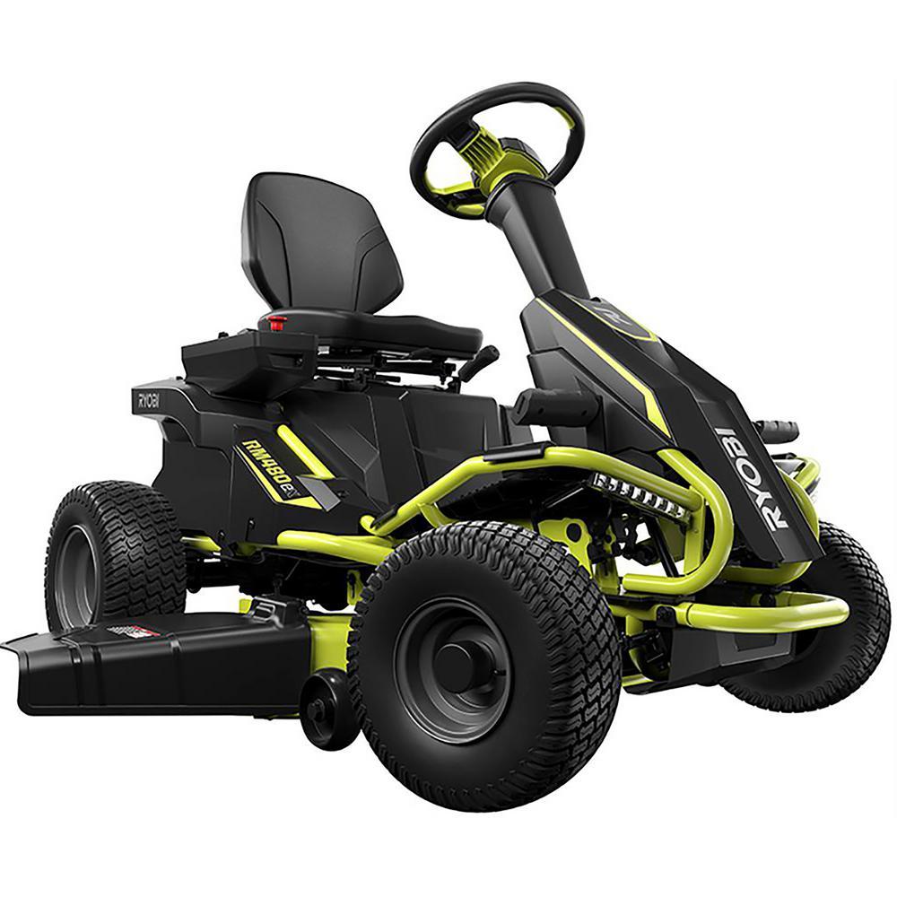 Ryobi 38 in. 100 Ah Battery Riding Lawn Mower - Home Depot $2599