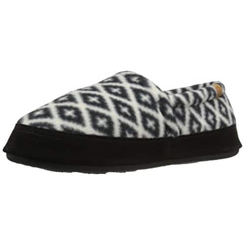ACORN Women's Moc Slipper [Black/Cream Southwestern, Medium $15] Shipping Free with Prime