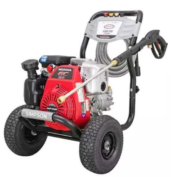 SIMPSON MegaShot 3300 PSI at 2.4 GPM HONDA GC190 with OEM Technologies Axial Cam Pump Cold Water Premium Residential Gas Pressure Washer $349.98 Sams Club. YMMV Pick up only