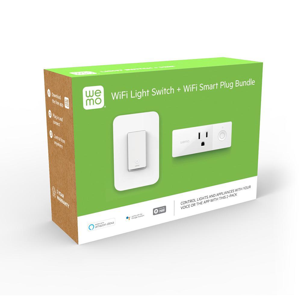 WeMo Wi-Fi Light Switch and Smart Plug Bundle @ Home Depot ($38.88 + Free Store Pickup)