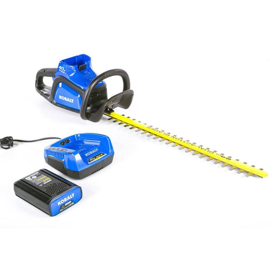 Kobalt 40-Volt Max 24-in Dual Cordless Electric Hedge Trimmer (1-Battery Included) $99