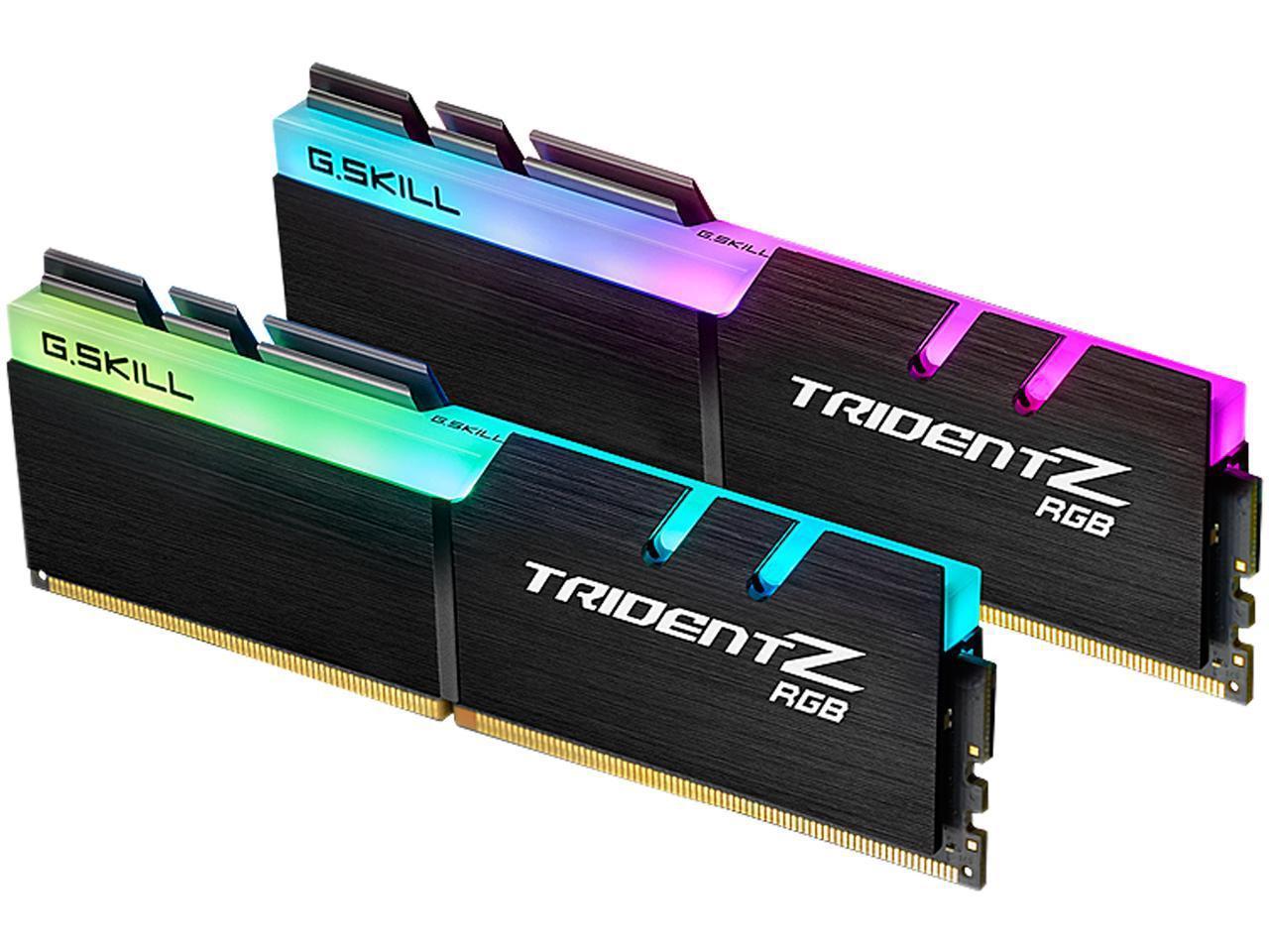G.SKILL Trident Z RGB (For AMD) 16GB (2 x 8GB) 288-Pin DDR4 SDRAM DDR4 3600 (PC4 28800) Desktop Memory Model F4-3600C18D-16GTZRX $144.99