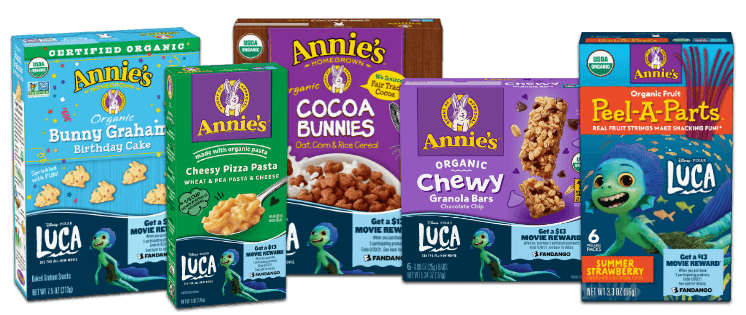 $13 Fandango Movie Reward with Purchase of 3 Boxes of Annie's Products