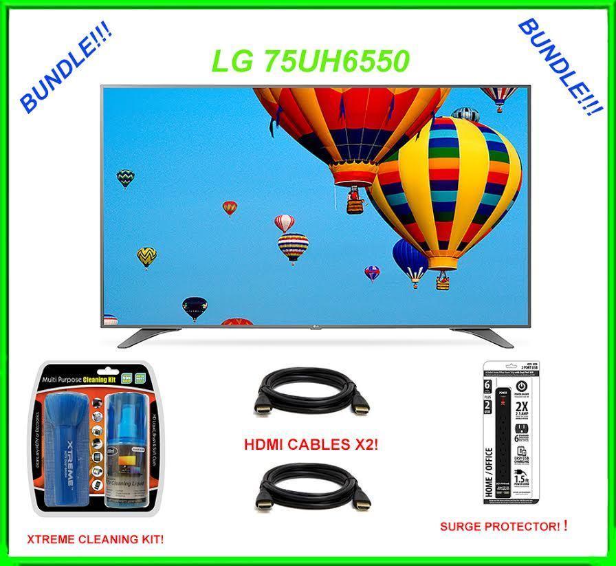 "LG 75UH6550 75"" Smart LED 4K Ultra HD TV BUNDLE - $2,429.52"
