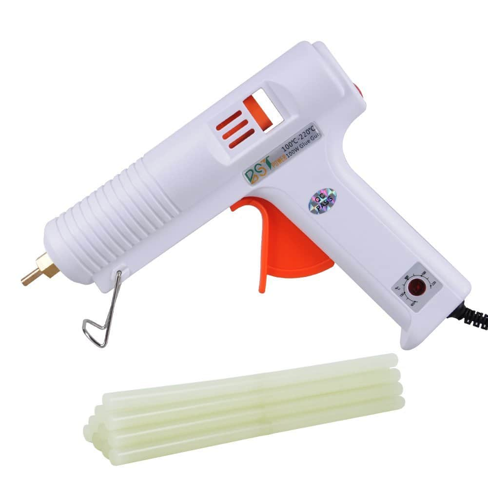 100W Temperature Adjustable Glue Gun and 10pc Glue Sticks $19.99 AC at Amazon