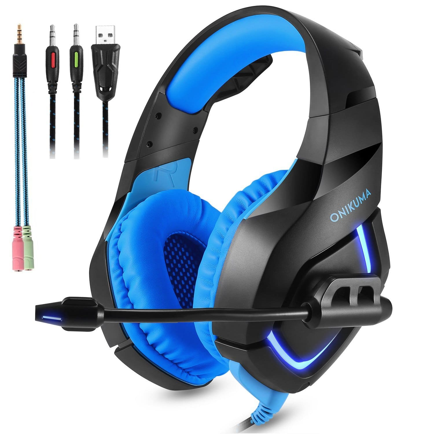Gaming Headset with Mic for Xbox One, PS4, Nintendo Switch $12.99 AC at Amazon