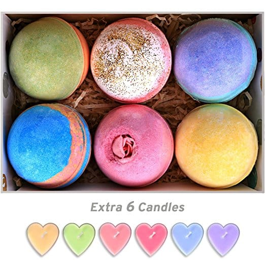 6 pack Assorted Bath Bombs with 6 Candles $8.96 AC @ Amazon