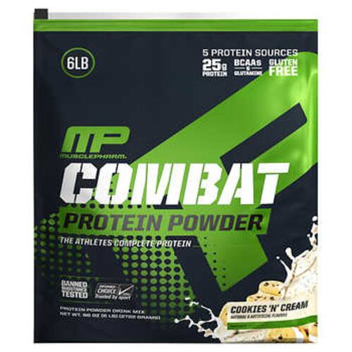 MusclePharm 6lb. Combat Protein Powder (Cookies 'N' Cream)  $34.99 & free shipping for Costco members