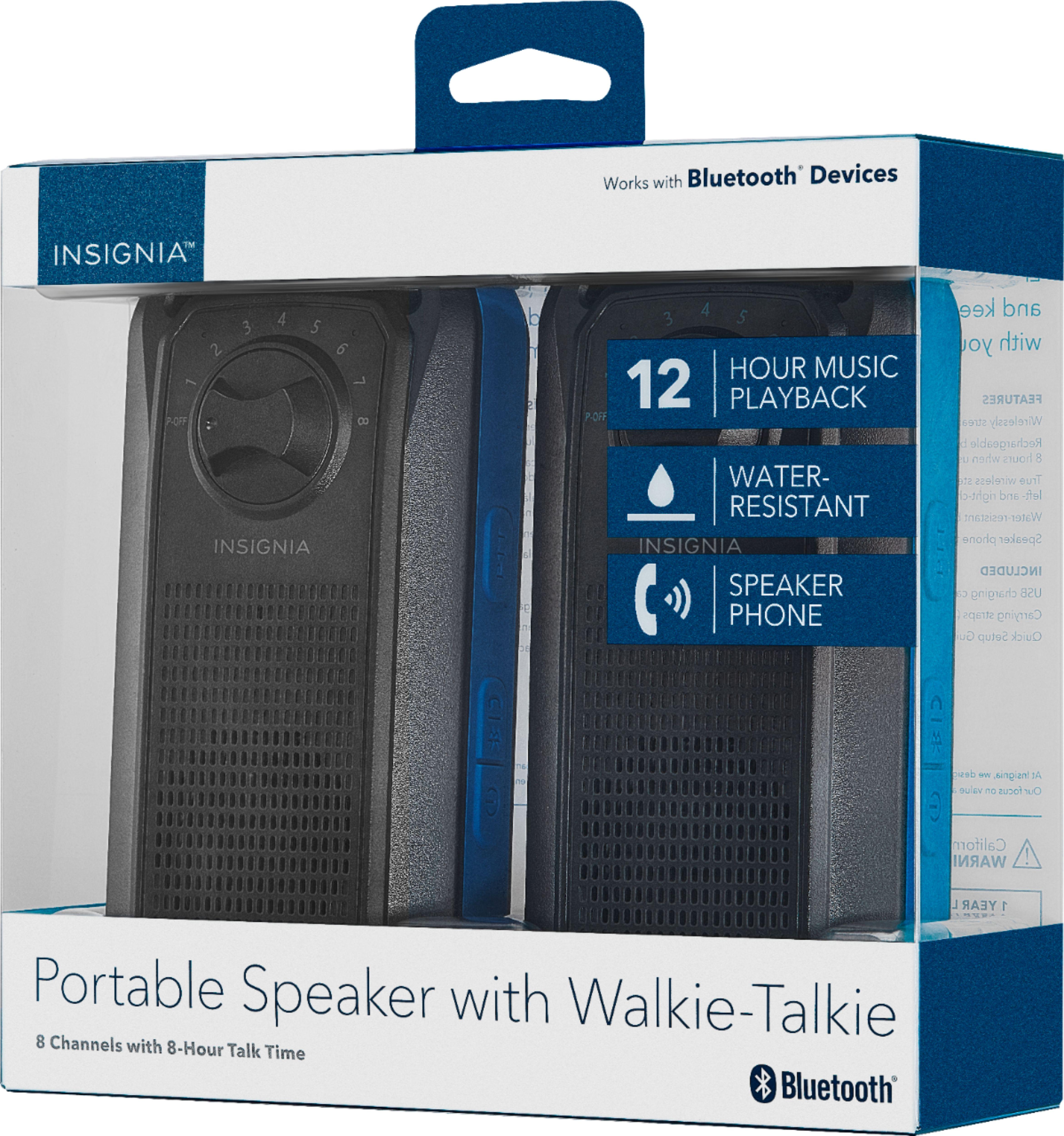 Insignia™ - Portable Speaker with Walkie-Talkie - Black $19 99