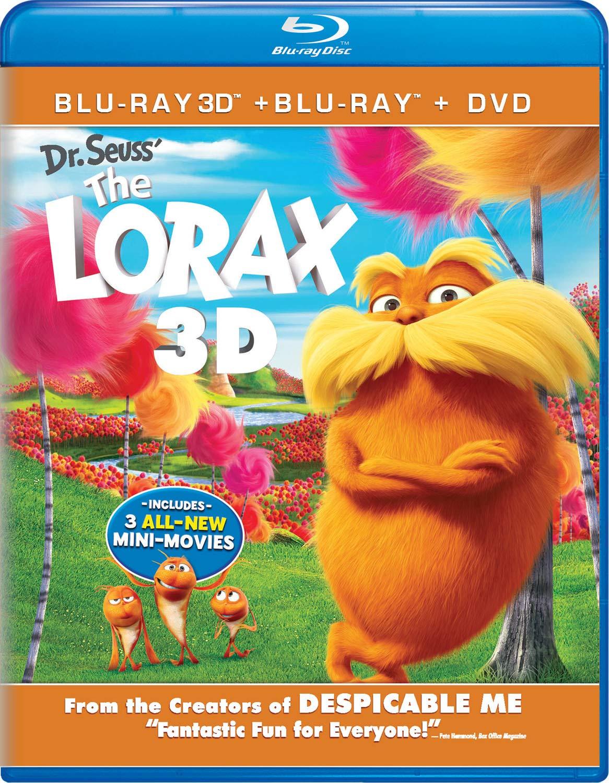 Dr. Seuss' The Lorax Blu-ray 3D + Blu-ray + DVD $5 Amazon
