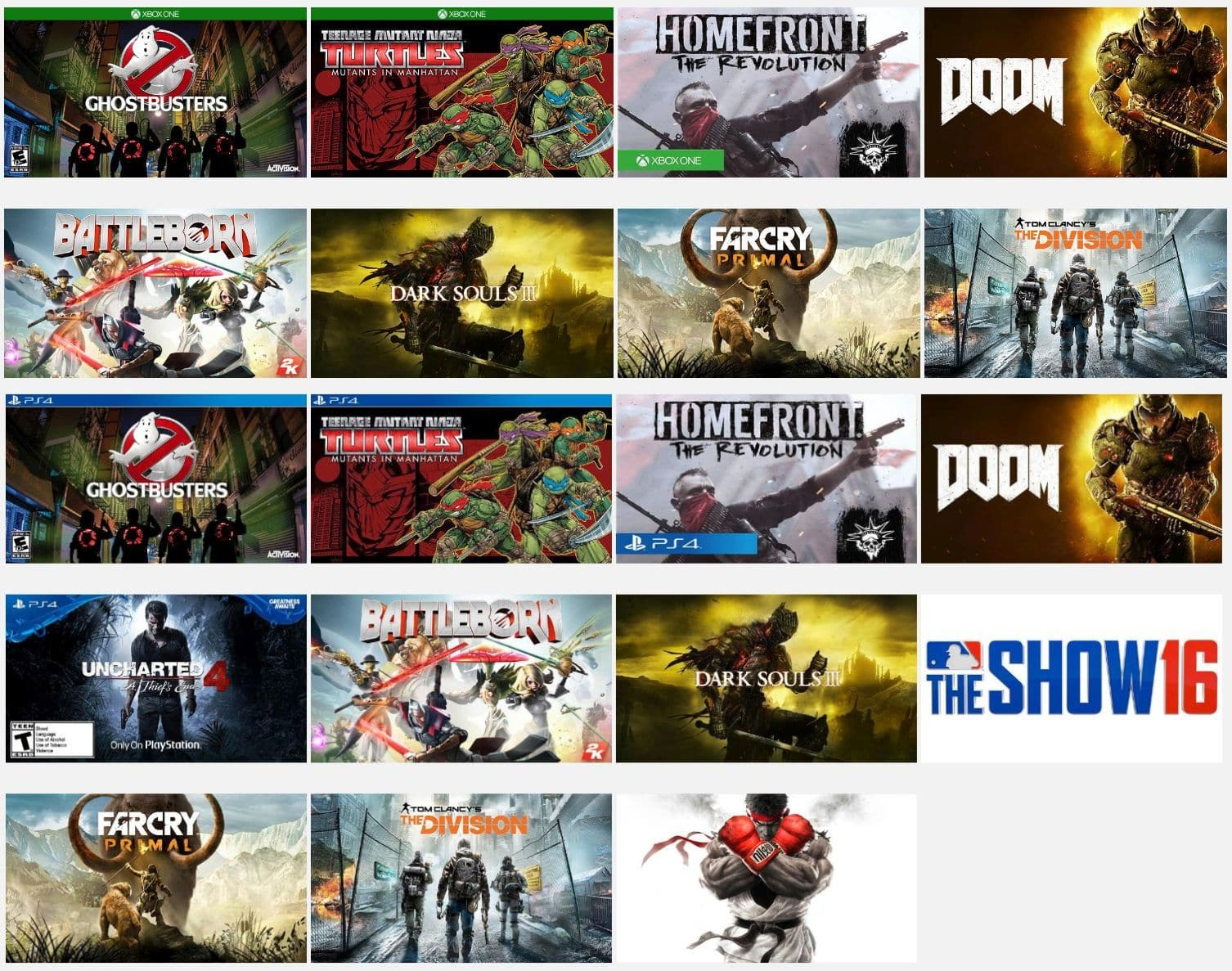 [PS4/XBOX ONE] Redbox: Street Fighter V, Just Cause 3, Homefront: The Revolution - $13.99 each YMMV