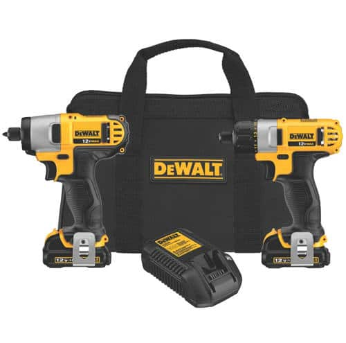 Dewalt 12v Max DCK210S2 screwdriver & impact driver kit [s]$126[/s] at Murdoch's, DCK211S2 Drill & Impact Driver kit $149 at Amazon, free shipping