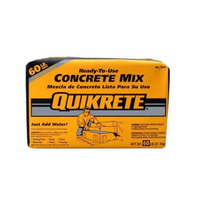 Quikrete 60lbs bag of Concrete Mix, $1.38 each in bulk (14 bag minimum) or $1.98 individually at Home Depot YMMV