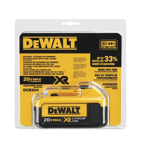 DEWALT 20V MAX* BATTERY (4AH) DCB204  $39.99 at Murdoch's,  Free Store Pickup or $8 S&H