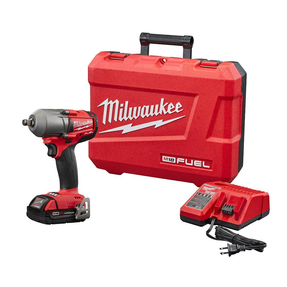 """Milwaukee M18 FUEL Mid Torque Cordless 1/2"""" Impact Wrench Kit, $199 from Home Depot"""
