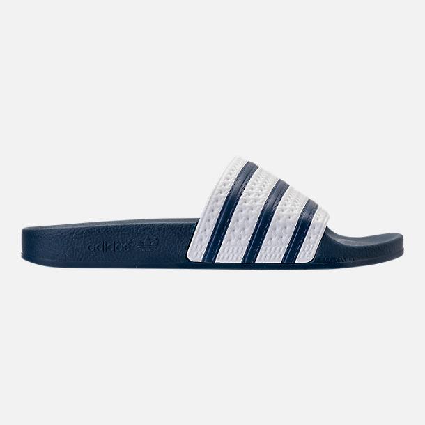 5d07b6598145 Men s adidas Adilette Slide Sandals (Navy White) - Slickdeals.net