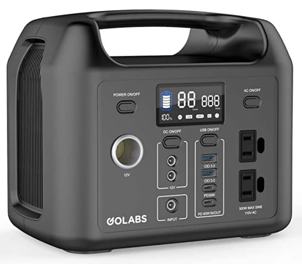 GOLABS Portable Power Station, 299Wh LiFePO4 Battery Backup $299.98 - $100 coupon --> $199.98