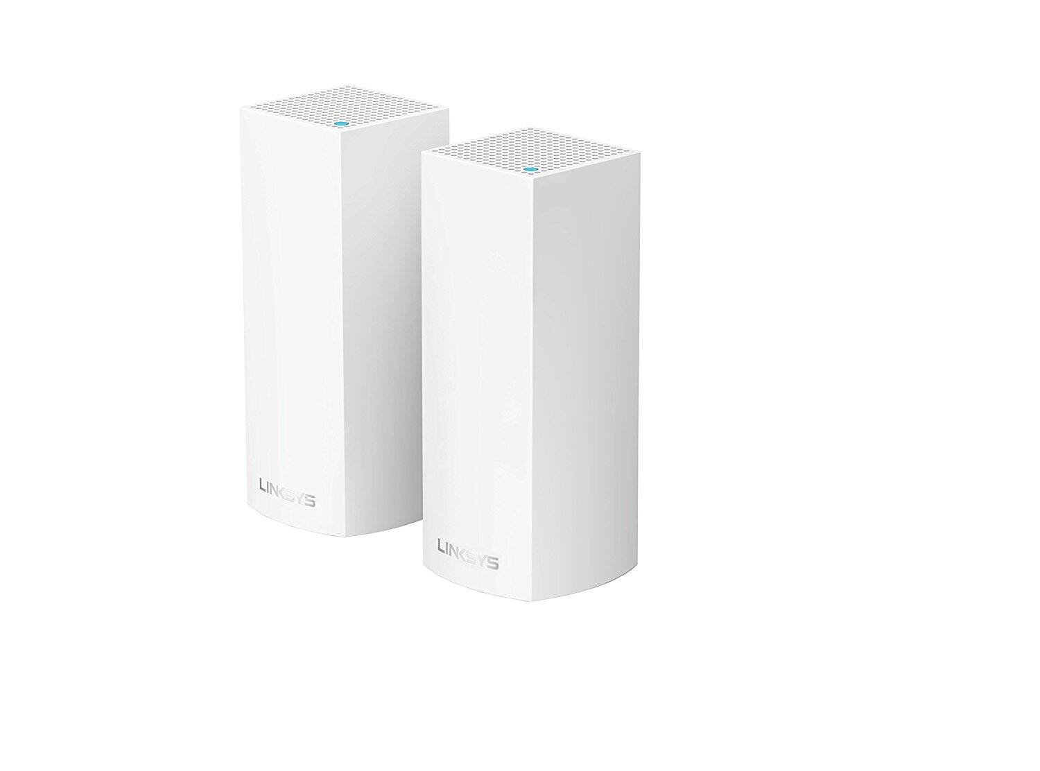 Linksys Velop Tri-band Whole Home WiFi Mesh System: 2-pack $249 (@Best Buy, Amazon) or $279 (@Fry's, NO SALES TAX)