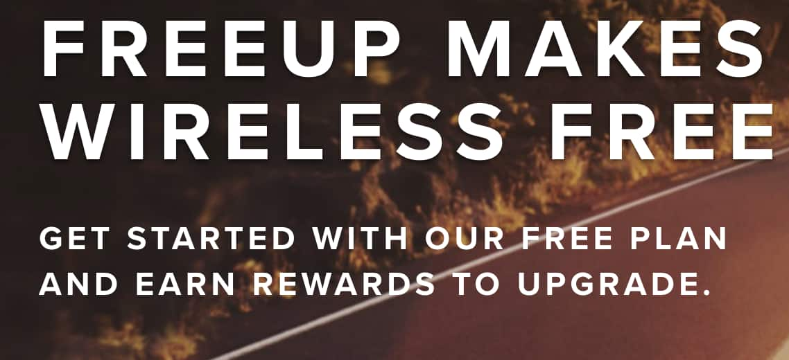500 minutes talk or text with 100MB data for $0 a month on FreeUp network $1.99