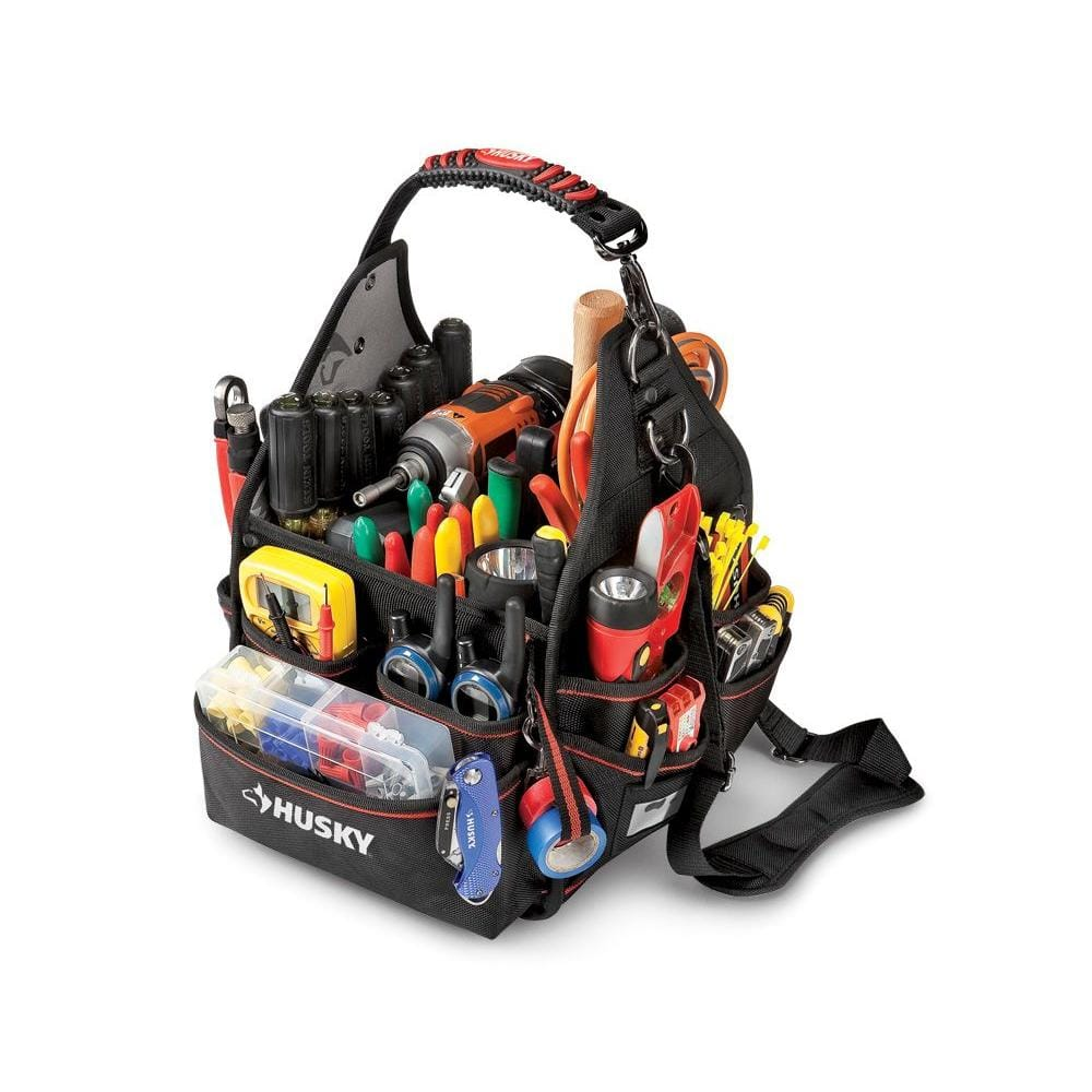 Husky 10 in. Electrician Tool Bag with Driver Wall YMMV $19 @ B&M Home Depot