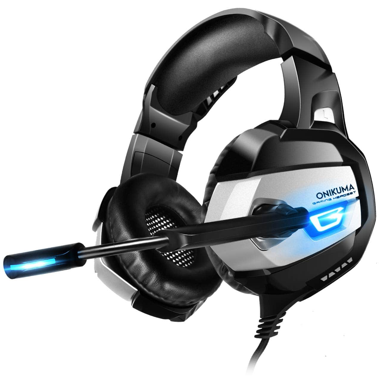 ONIKUMA Gaming Headset Xbox One Headset Upgrade PS4 Headset [2019 K5 Pro] with Noise Canceling Mic &7.1 Surround Bass $14.44