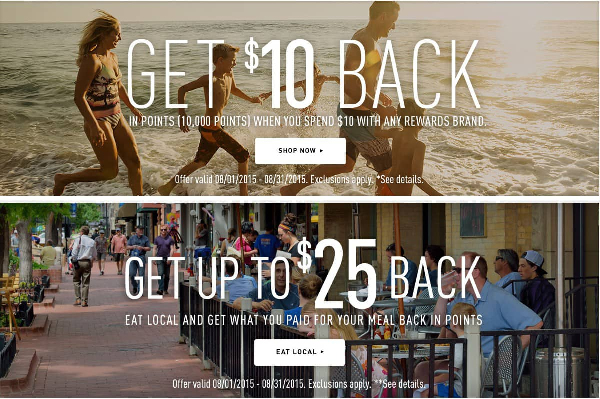 100% Back - $25 Points on $25 Restaurant & $10 Points on $10 Walmart Target Starbucks & More - Rewards Partners Purchase Shopyourway.com SYW SYWR Shop Your Way