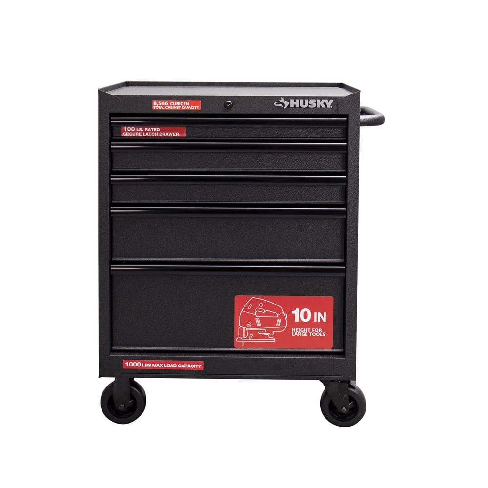 Husky 27 In 5 Drawer Tool Cabinet Textured 84 Ymmv B M
