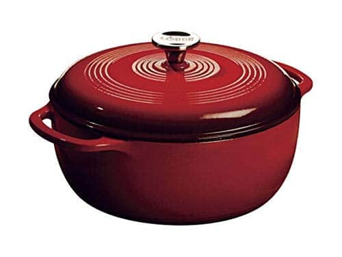 Lodge 6 Quart Enameled Cast Iron Dutch Oven. Classic Red Enamel Dutch Oven (Island Spice Red) $52.91