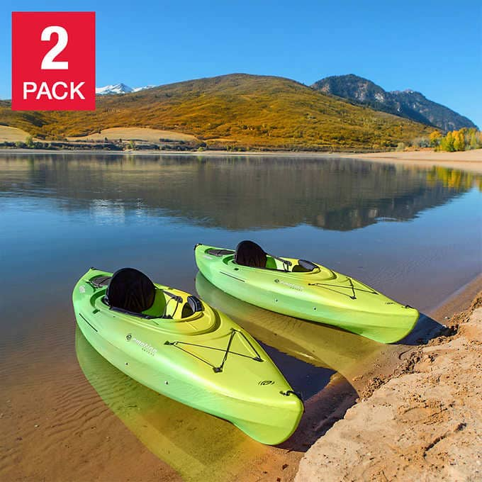 Lifetime Guster 10ft Sit In Kayak, 2-pack $589.99