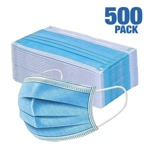 500 PCS - Disposable Face Masks 3-Ply ~ ($0.40/pc) $199