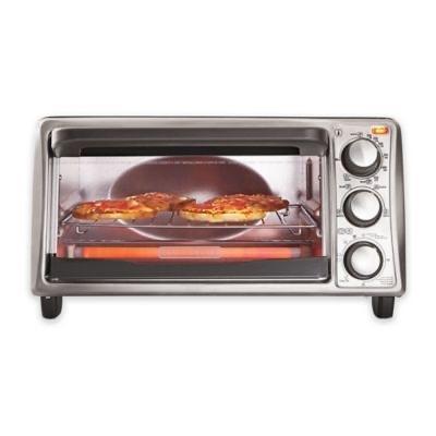 Black & Decker 4-Slice Toaster Oven Grey (BBB) - $20