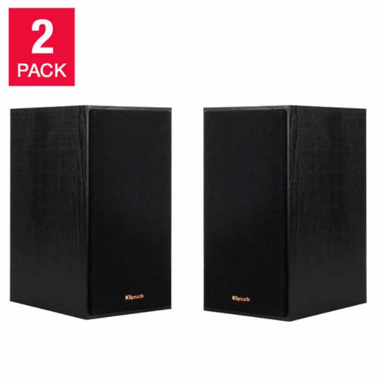 Klipsch Bookshelf Speakers, 2-pack Item  1250041Model  R-41M  $89.99