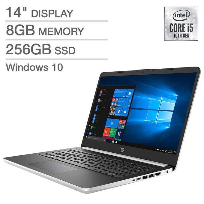 """HP 14"""" Laptop 10th Gen Ii5 - 1080p 260GB SSD 8GB RAM 399 tax Costco"""