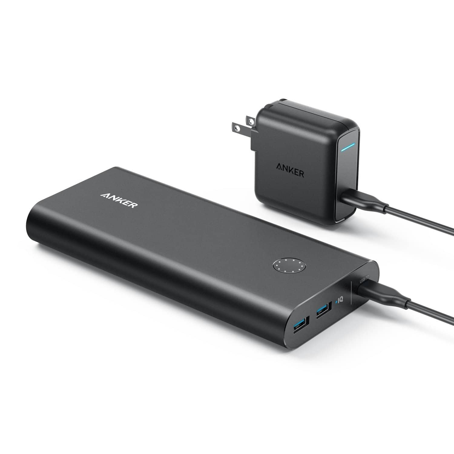 Anker PowerCore+ 26800 PD with 27W PD Portable Charger Bundle for Nintendo Switch & USB Type-C Laptops (e.g. 2016 MacBook) Power Delivery Support $79.99