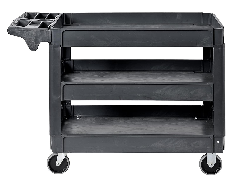 "Sandusky Lee Heavy-Duty Plastic Utility Cart 46"" Height x 33"" Width x 25"" $119.78"