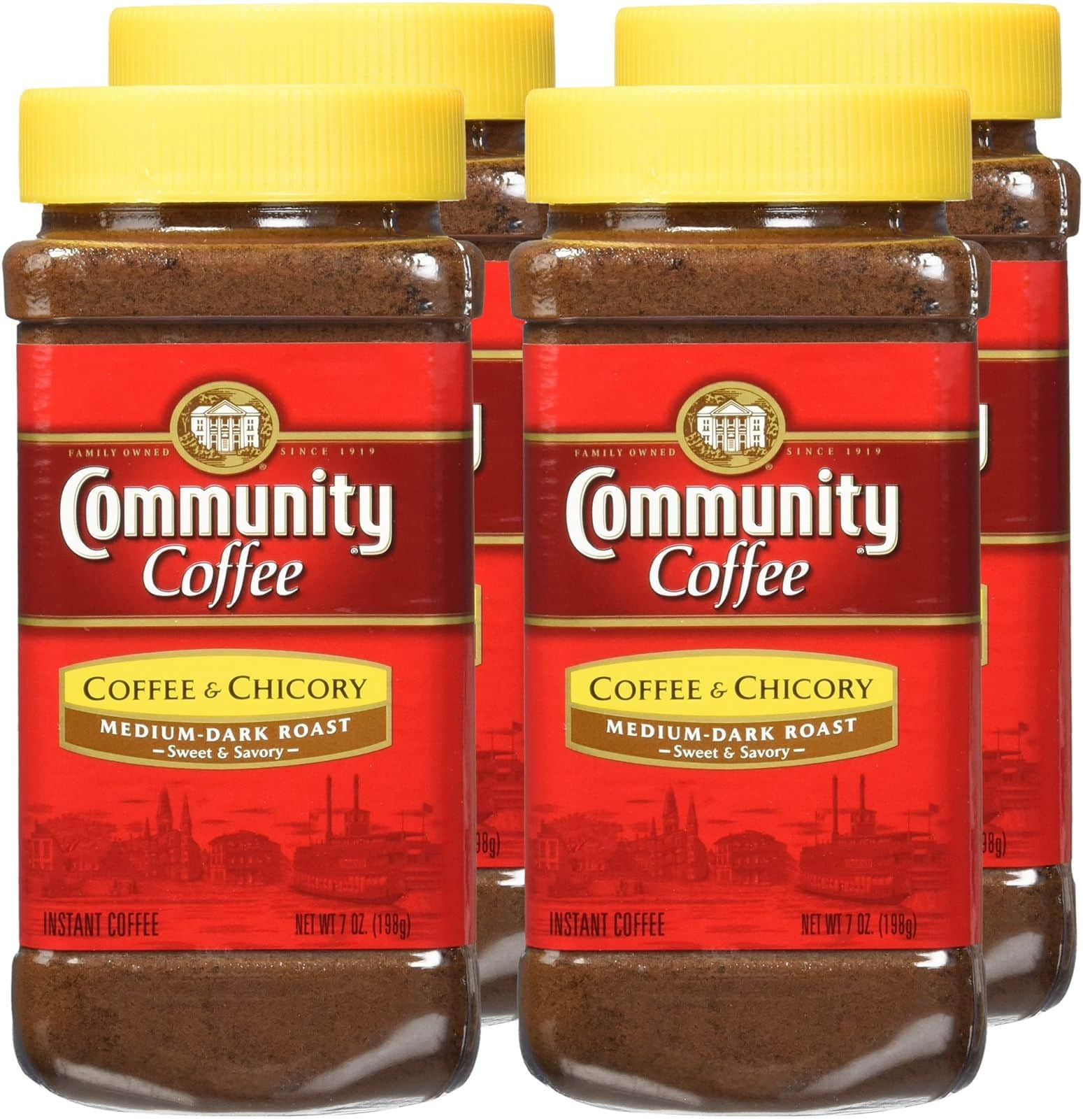 Community Coffee and Chicory Instant Coffee, 7 Ounce (Pack of 4) 4 Count + Free Shipping $12.74