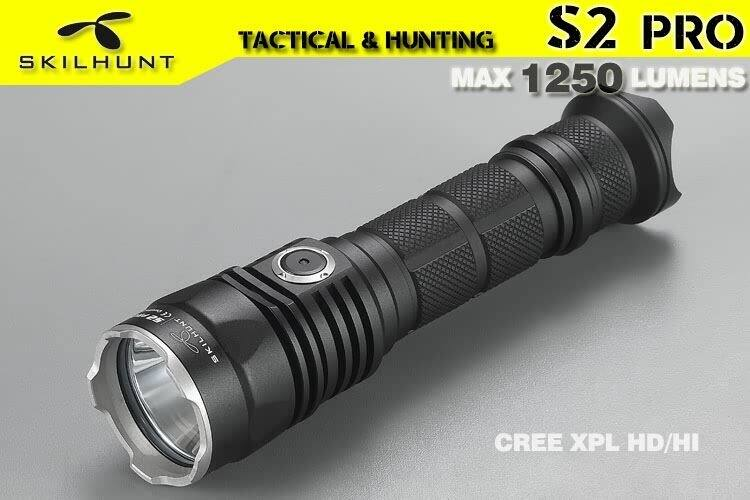 (clearance) Skilhunt S2 pro CREE XP-L led 1250 max lumens tactical flashlight  (no batteries included) $24.90