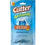 Amazon: Cutter All Family 15 Count Insect Repellent Mosquito Wipes - $2.90 (FS with PRIME or $35)